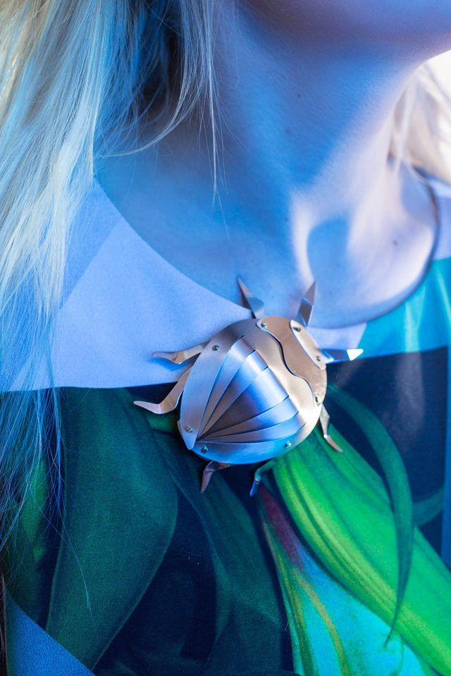 Pica Pica girls in Anna Orska jewellery/ Insects collection.