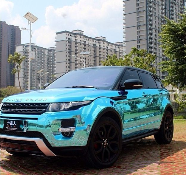 Tiffany Blue Range Rover