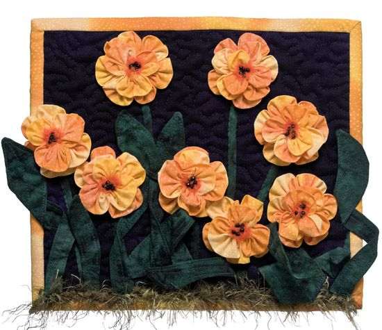 ~ Marigolds from More Fabulous Flower Quilts