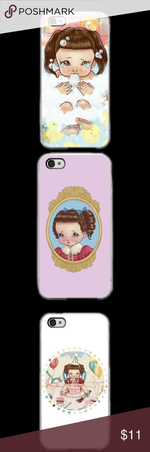 MELANIE MARTINEZ CARTOON IPHONE 5c 5/5s 6/6s 6/6s+ LISTING IS FOR ONE CASE. YOU GET TO CHOOSE WHAT DESIGN YOU WANT. This a iPhone 5c 5/5s 6/6s 6/6s Plus phone case. It is made of durable hard plastic. Easy snap-on design for a lightweight feel and great phone protection. PLEASE SPECIFY WHAT SIZE CASE AND PICTURE OF CASE. BEFORE YOU PURCHASE LET US KNOW WHAT SIZE AND PICTURE.  