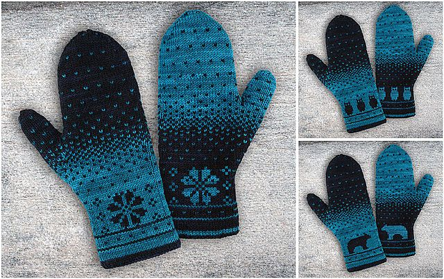 Ravelry: Yuma Double Knitting Mittens pattern by Alexandra Wiedmayer
