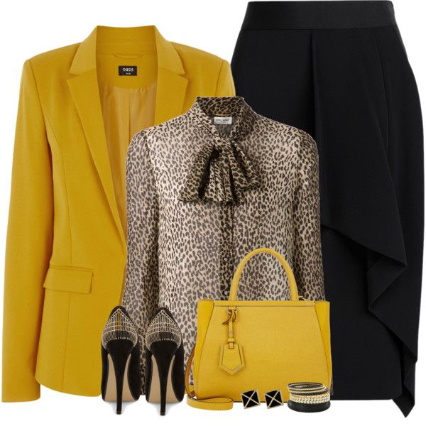 Bow Blouse... by kiffanyl on Polyvore featuring moda, Yves Saint Laurent, Oasis, Roland Mouret, Dorothy Perkins and Fendi