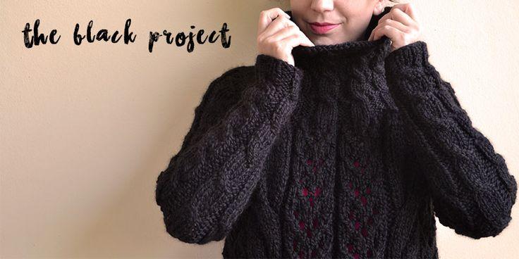 The Black Project (tejiendo con lana negra)   Pearl Knitter