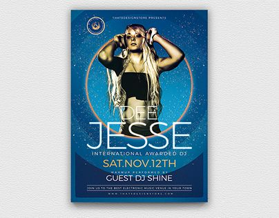 check out new work on my behance portfolio dj session flyer