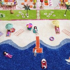 3D Play Rug with Beach View detail