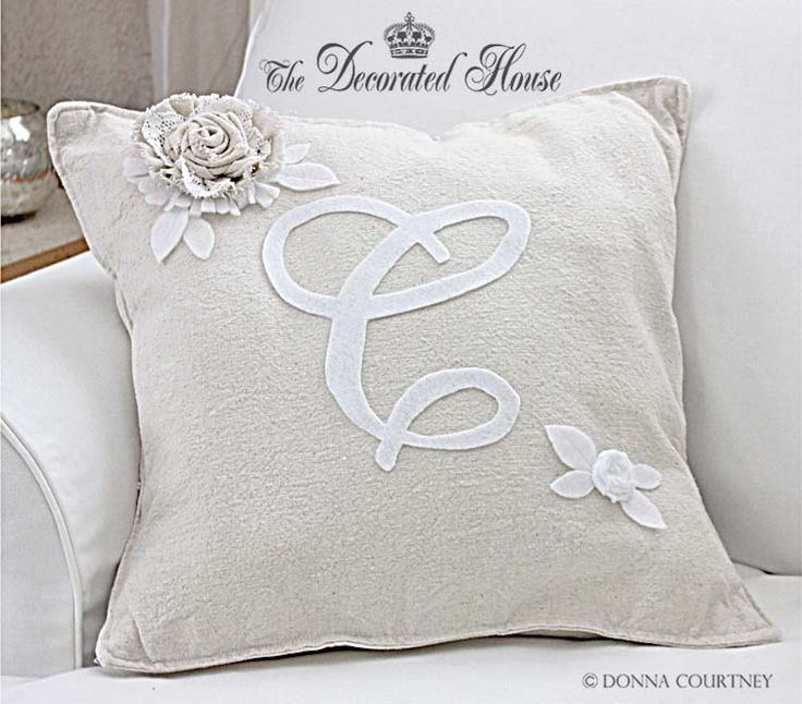 The Decorated House: ~ How to Make a Pottery Barn Style Monogram Pillow, DIY