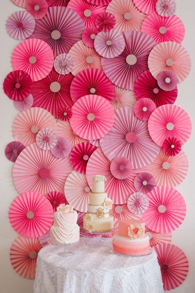 Decoração papel rosa