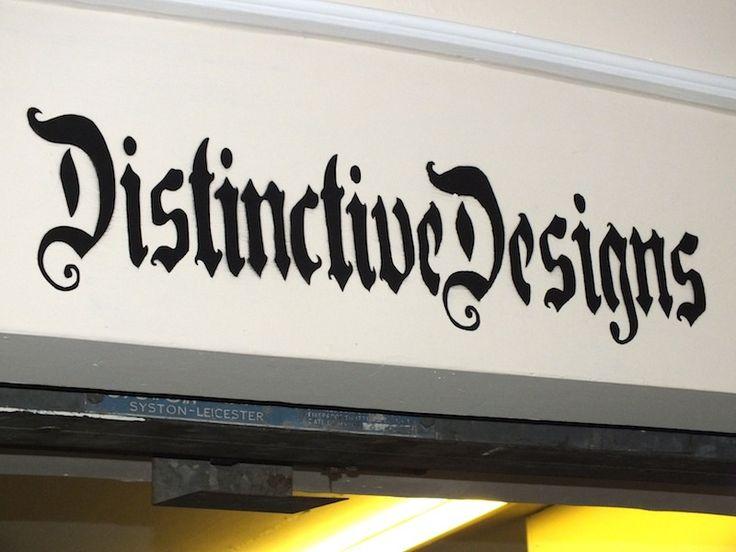 Distinctive designs shop name