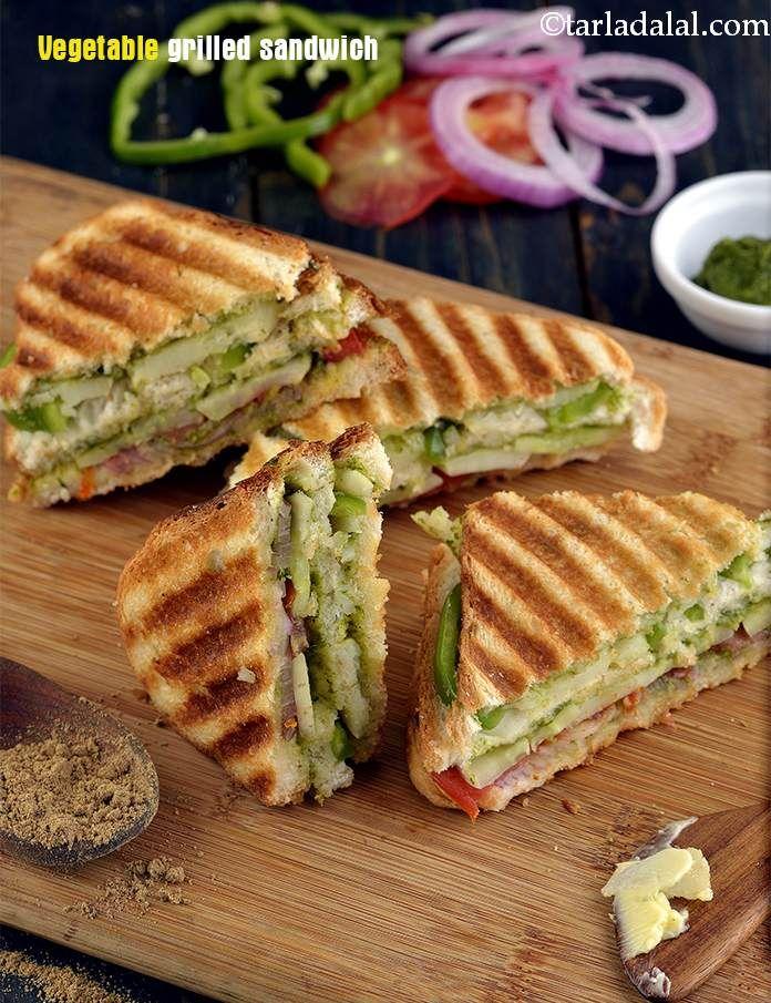 Vegetable Grill Sandwich Mumbai Roadside Recipes
