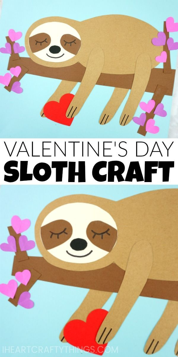 The Most Adorable Sloth Craft You Ve Ever Seen Valentine S Day
