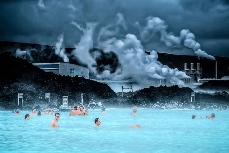 Laguna Blu - Reykjavik, Iceland  - a spa from a geothermal power plant. Awesome.