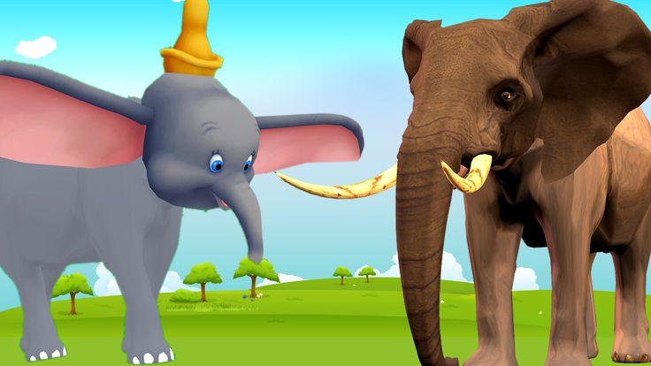 cartoon elephant animation for johny johny yes papa rhymes for