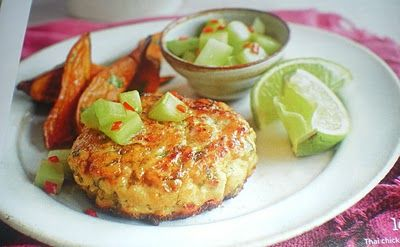 Cate Can Cook, So Can You!!: Thai Chicken Burgers with Cucumber Relish