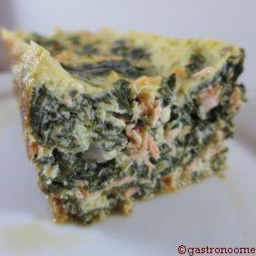 Cake Flan saumon & épinards