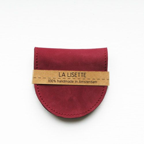 Folded coin purse Marsala Bordeaux red burgundy by LaLisette