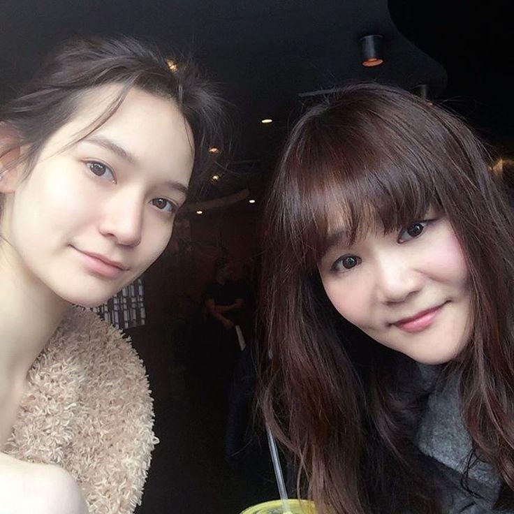 キャスティングの間少し時間があったから、2人でお茶😊☕️#monamatsuoka #newyork #teatime☕️