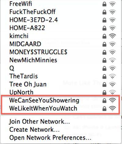Flertando pelo Wi-Fi – veja o q descobriu sobre os vizinhos checando o nome das redes http://www.bluebus.com.br/flertando-pelo-wi-fi-veja-o-q-descobriu-sobre-os-vizinhos-checando-o-nome-das-redes/