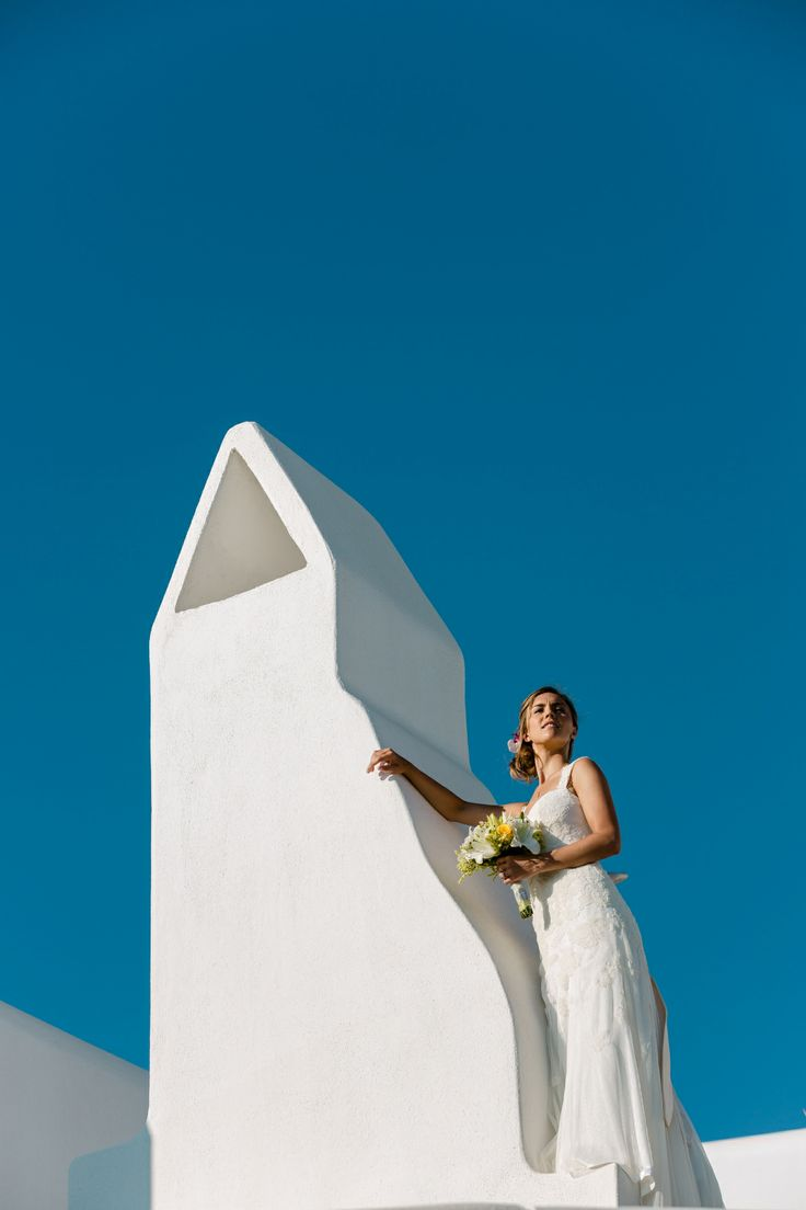 Blue & white. Stunning background during your wedding at Mykonos Grand Luxury Hotel