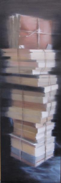 Ex-Libris, 2012 Olio su tela, oil on canvas 120x40