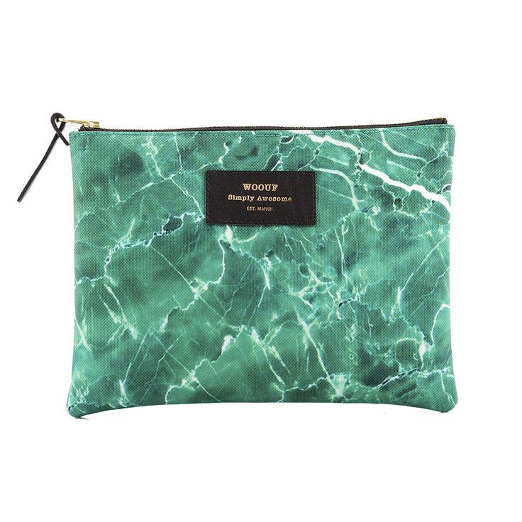 Woouf - Green Marble - Pouch - Woouf - designdelicatessen ApS - lille - 180 kr.