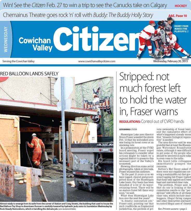 Citizen Front Page Feb. 20, 2013
