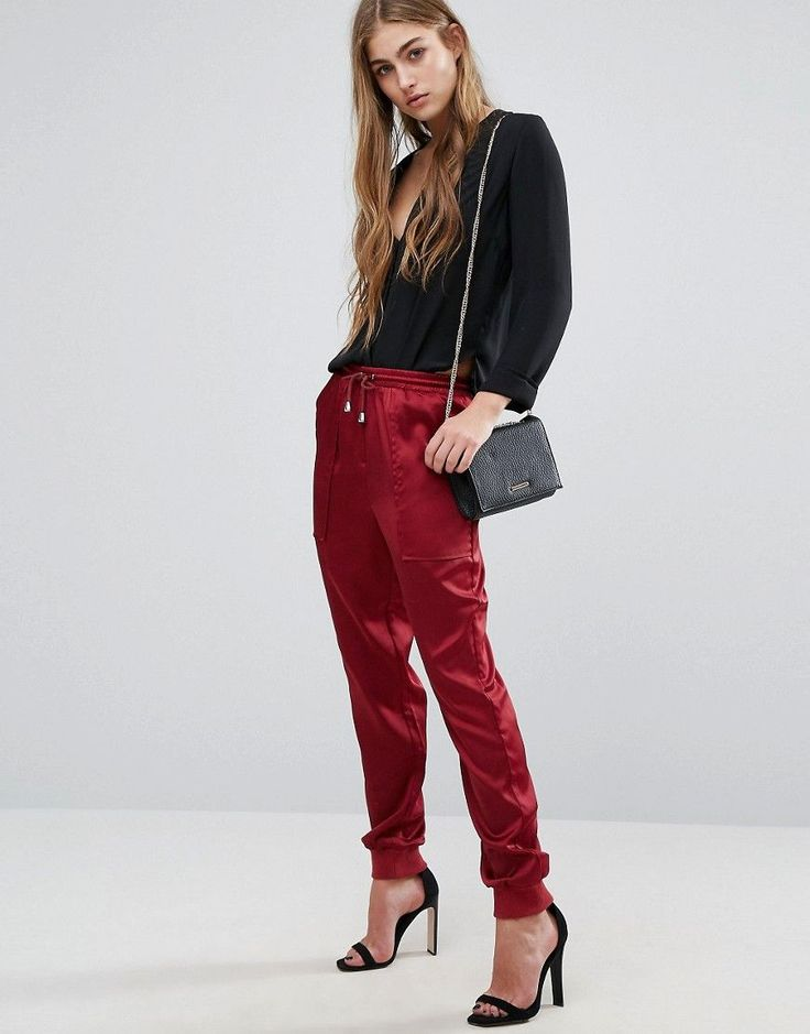 Buy it now. Missguided Pocket Detail Satin Jogger - Red. Joggers by Missguided, Super lightweight silky-feel fabric, Drawstring waistband, Metal eyelets and tips, Functional pockets, Fitted cuffs, Relaxed fit, Machine wash, 100% Polyester, Our model wears a UK 8/EU 36/US 4 and is 168cm/5'6 tall. ABOUT MISSGUIDED With an eye on the catwalks and hottest gals around, Missguided's in-house team design for the dreamers, believers and night lovers. Taking the risks no one else dares to, its…