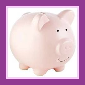 Pearhead Ceramic Piggy Banks, Pink In this world of instant, teaching children to save for tomorrow, will teach them to wait for rewards. Set goals and work towards something. http://theceramicchefknives.com/ceramic-piggy-banks/  ATM Piggy Bank, Ceramic Piggy Banks, Disney Minnie Ceramic Piggy Bank, Disney Minnie Mouse,