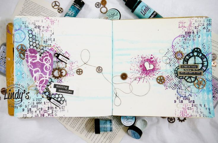Art Journal Page with a Story - CinsCreations