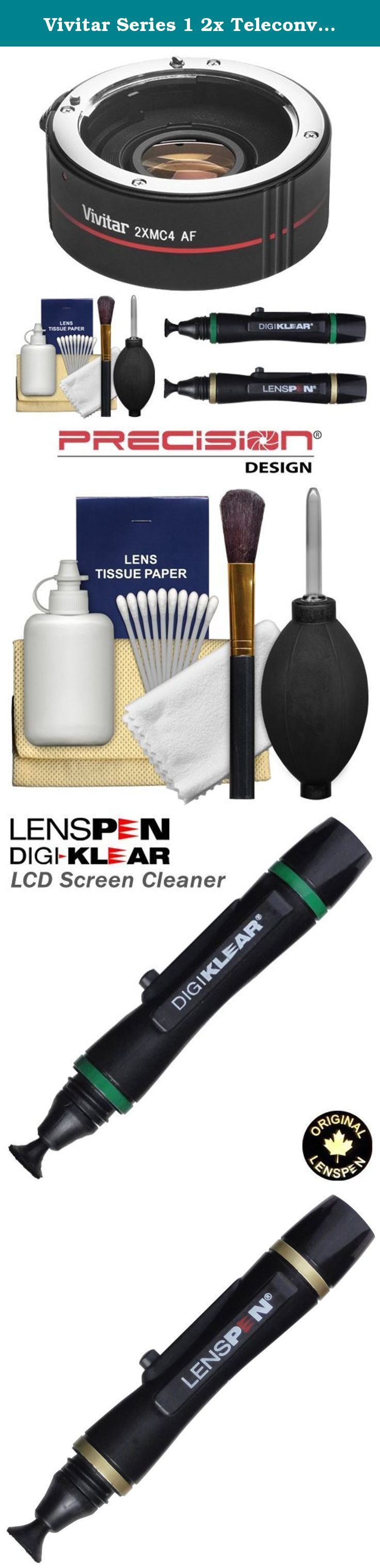 Vivitar Series 1 2x Teleconverter (4 Elements) Kit + Lenspens + Cleaning Kit for Canon EF Lenses & Digital SLR Cameras. Kit includes: ♦ 1) Vivitar 2x Teleconverter (4 Elements) ♦ 2) LensPen Lens Cleaning System ♦ 3) LensPen DigiKlear LCD Screen Cleaning System ♦ 4) Precision Design Deluxe 6 Piece Lens & Digital SLR Cleaning Kit This Vivitar 2x Teleconverter is the ideal accessory for any photographer looking to get closer to the action and capture distant images . With this simple…