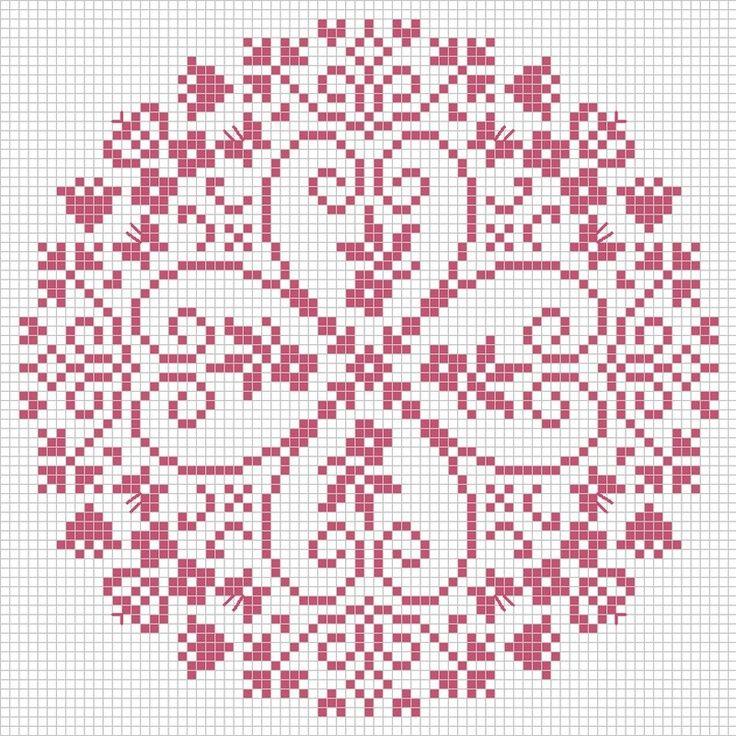 mandala kruissteek patroon