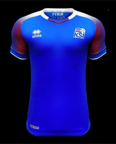 a323be942 2018 World Cup Iceland Home Blue Thailand Soccer Jersey AAA ...