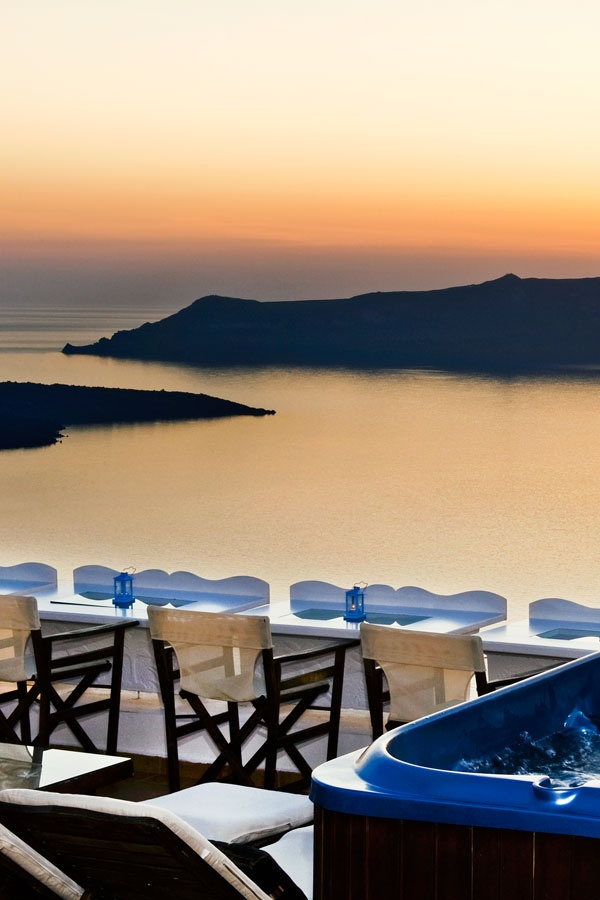 Fira Sunset, Santorini, Greece.
