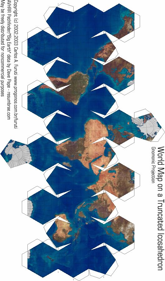 Print, cut, tape and hold the world in your hands. Follow the link for more maps. ~ JSL