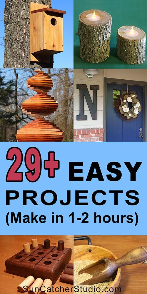 DIY Woodworking Ideas 29+ Easy DIY Projects.  Complete in under 2 hours!  These beginner woodworking p...