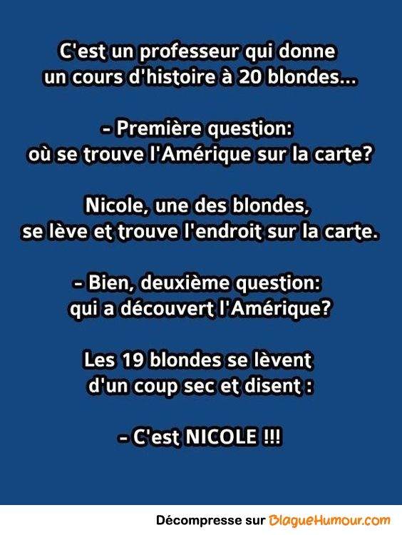 Nicole La Blonde Citation Drole Amour Sur Le Travail L Amitie Dissertation