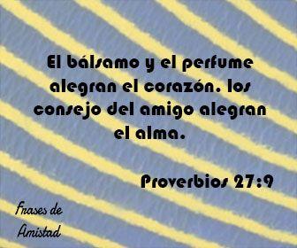 Frases de amistad biblicas de Proverbios 27:9