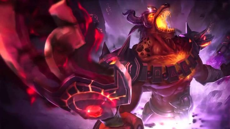 Infernal Nasus League Of Legends Login Screen With Music(+재생목록)