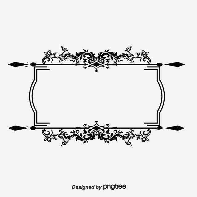 إطار نمط ناقلات الأسود القديم ناقلات مربع القديمة الإطار ناقلات الحدود Png وملف Psd للتحميل مجانا Black Pattern Hindu Wedding Cards Frame