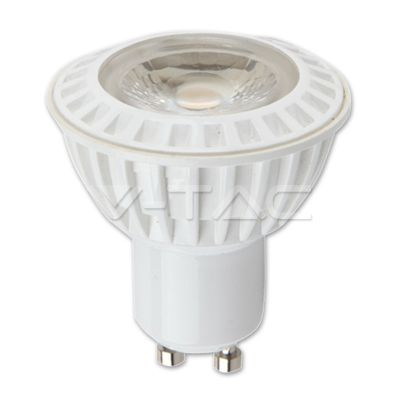 LED Spotlights 110'D COB Series : LED Spotlight - 6W GU10 White Plastic Premium Warm White 110° Dimmable