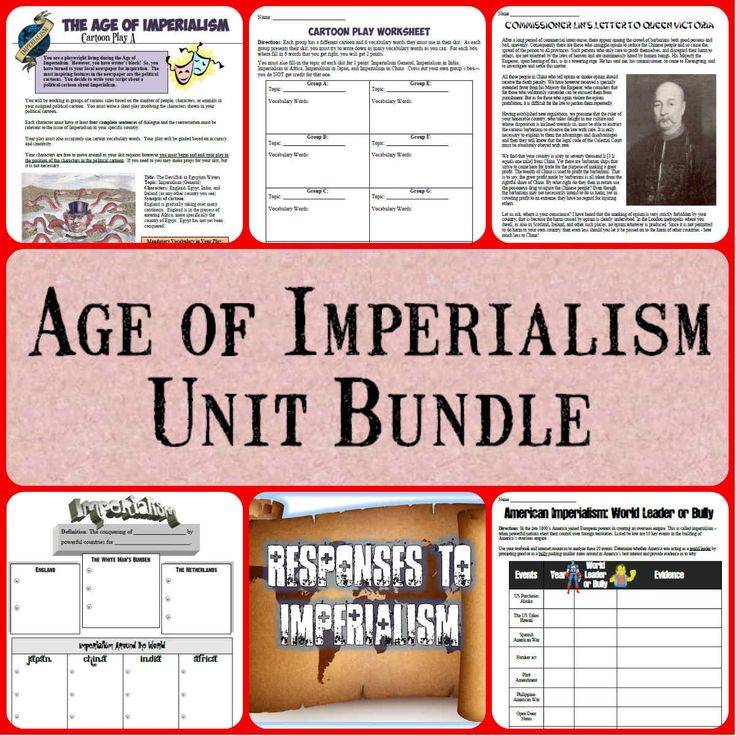 This is a fantastic unit bundle on Imperialism and includes 16 interactive resources to teach about the Age of Imperialism in a World or American History class!  In total, you are getting 4 PowerPoints, 8 projects and worksheets, and the test - making for an excellent unit on Imperialism! All of these items priced individually would be over $20 and you are getting even more with this download!