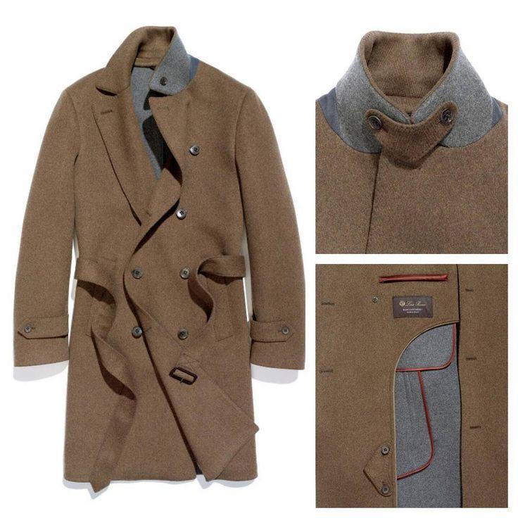 Мужское кашемировое пальто Loro Piana Double face.