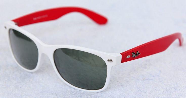 Очки Ray-Ban wayfarer белая оправа, красные дужки, поляризованные стекла #257 !! Последняя распродажа модели !! Продаётся с большой скидкой !! !! Отличное качество и низкая цена !!