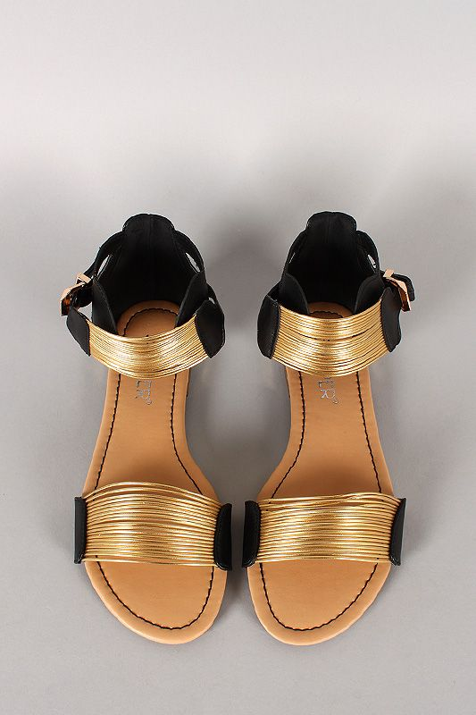 Ditch the flip flops and go for the gold in these sandals
