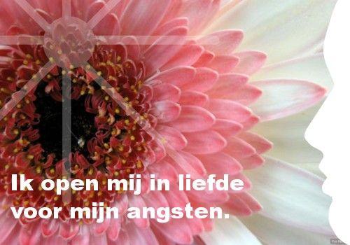 Mijn inspiratie: Ik open mij in liefde voor mijn angsten.