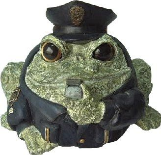 Homestyles Toad Hollow 94083 Figurine Policeman in Cop Uniform withCap Badge  Whistles Rescue Character Garden Large Statue Toad Figure Moss Green *** Clicking on the VISIT button will lead you to find similar product