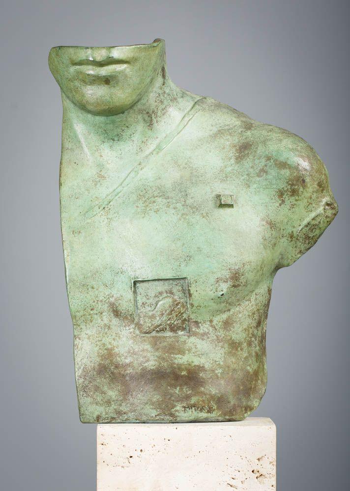 IGOR MITORAJ (1944 - 2014)  ASKLEPIOS   brąz patynowany / wys. 38 cm, z podstawą 48 cm