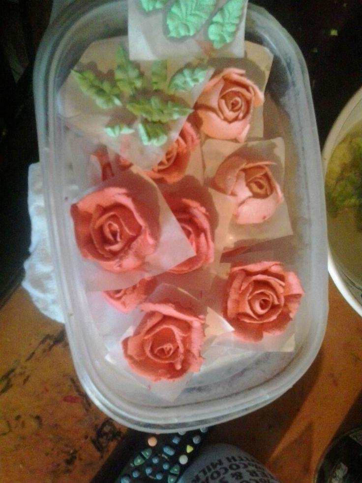 Rosas de buttercream para refrigerar