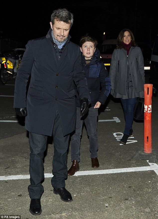 Prince Frederik and Prince Christian (both pictured) were also cosily decked out, in puffe...