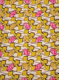 Afrikai ruhák Designs Super Deluxe Wax szabálytalan minta Sárga sw14090114