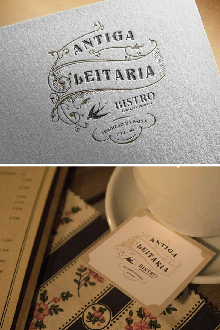 Branding for a Bistro in Porto, Portugal. The logo design was inspired by the swallow decorating the place. Also a vintage mood was given to the brand design to complement the decoration of this Bistro.